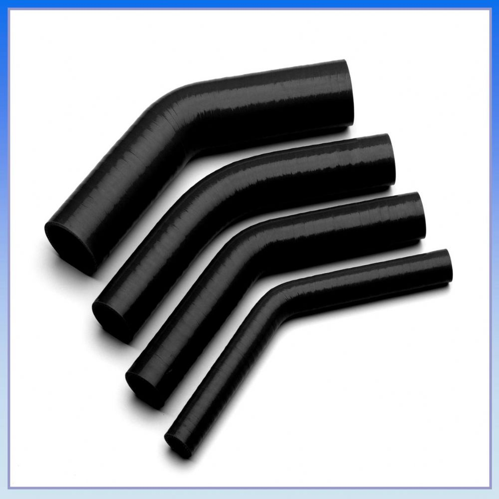 16mm 5 8 I D Black 45 Degree Silicone Elbow Hose Pipe